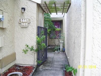 1441 NE Sheafe Avenue UNIT 103, Palm Bay, FL 32905 - MLS#: 820661
