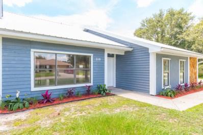 210 Dickinson Street, Palm Bay, FL 32907 - MLS#: 823216