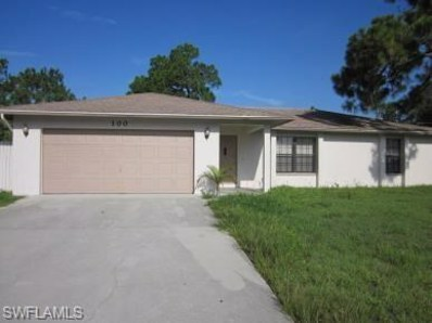 100 Ichabod S AVE, Lehigh Acres, FL 33973 - MLS#: 218062232
