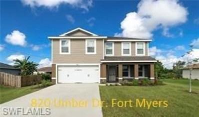 820 Umber DR, Fort Myers, FL 33913 - #: 219001034