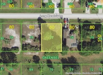 289 Long Meadow (Lot 77) Lane, Rotonda West, FL 33947 - MLS#: D5921982
