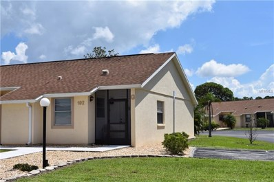 6796 Gasparilla Pines Boulevard UNIT 102, Englewood, FL 34224 - MLS#: N6102071