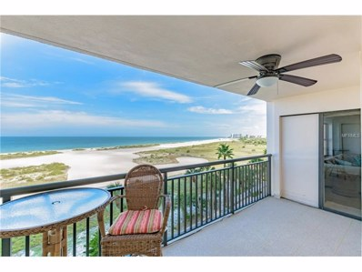 1270 Gulf Boulevard UNIT 602, Clearwater Beach, FL 33767 - MLS#: U7832528