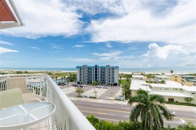 11605 Gulf Boulevard UNIT 603, Treasure Island, FL 33706 - MLS#: U8020745