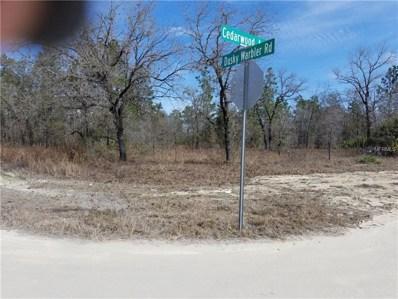 Dusky Warbler Road, Weeki Wachee, FL 34614 - MLS#: W7637476