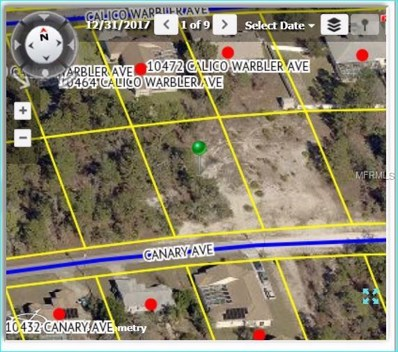 10463 Canary Avenue, Weeki Wachee, FL 34613 - MLS#: W7800317