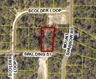 10473 Spalding Street, Weeki Wachee, FL 34614 - MLS#: W7801094