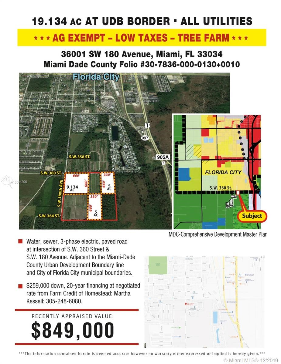 36001 SW 180, Florida City, FL 33034