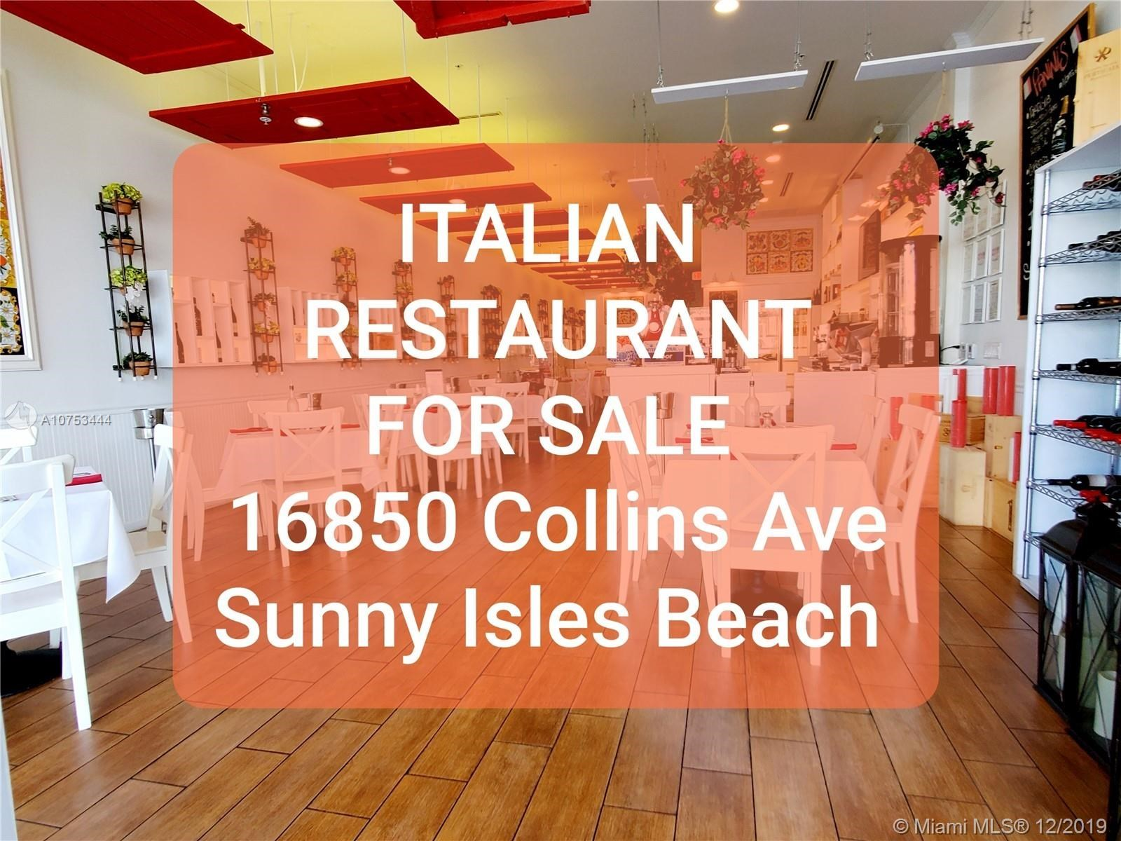 RESTAURANT 16850  Collins Ave#113-A,, Sunny Isles Beach, FL 33160