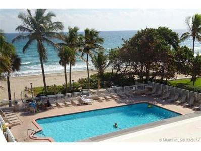 1051 SW Hillsboro Mile UNIT 402E, Hillsboro Beach, FL 33062 - MLS#: A10231532