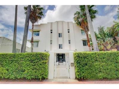 820 Euclid Ave UNIT 105, Miami Beach, FL 33139 - MLS#: A10246180