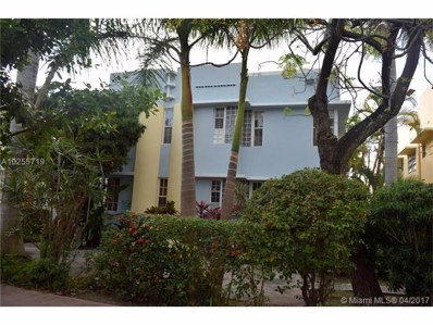 750 Euclid Ave UNIT 7, Miami Beach, FL 33139 - MLS#: A10255719