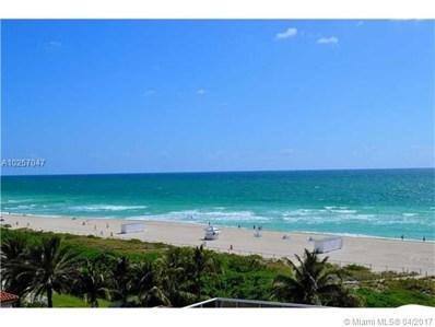 5875 Collins Ave UNIT 701, Miami Beach, FL 33140 - MLS#: A10257047