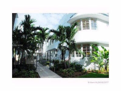 1000 Meridian Ave UNIT 19, Miami Beach, FL 33139 - MLS#: A10278788