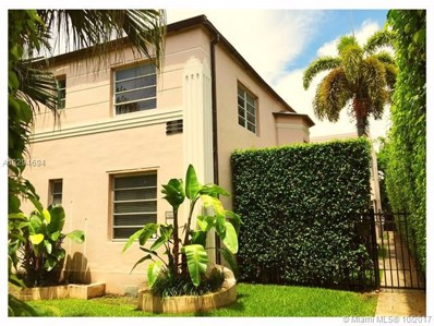 1535 Meridian Ave UNIT 1, Miami Beach, FL 33139 - MLS#: A10294694