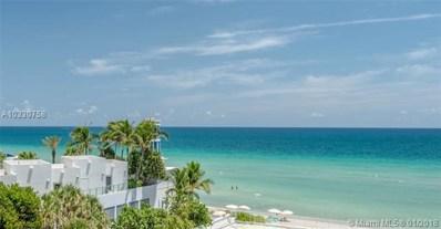 3505 S Ocean Dr UNIT 509, Hollywood, FL 33019 - MLS#: A10330758