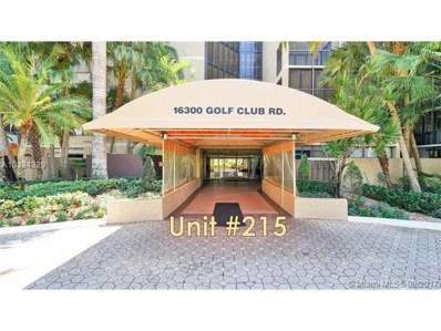 16300 Golf Club Rd UNIT 215, Weston, FL 33326 - MLS#: A10334329