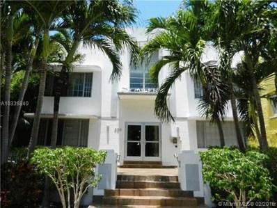 936 Pennsylvania Ave UNIT 206, Miami Beach, FL 33139 - MLS#: A10336840