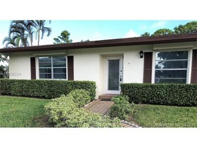 5474 Privet Pl UNIT A, Delray Beach, FL 33484 - MLS#: A10356234