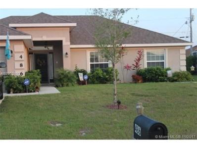 486 SW Kaabe Avenue, Port St. Lucie, FL 34953 - MLS#: A10362892