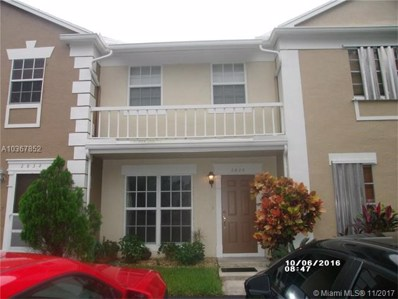 2836 S Edgehill Ln UNIT 2836, Cooper City, FL 33026 - MLS#: A10367852