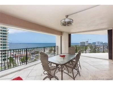 100 S Birch Rd UNIT 1201A, Fort Lauderdale, FL 33316 - MLS#: A10369555
