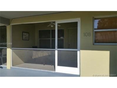 250 Layne Blvd UNIT 108, Hallandale, FL 33009 - MLS#: A10372468
