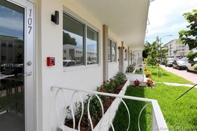 1601 Meridian Ave UNIT 205, Miami, FL 33139 - MLS#: A10378159