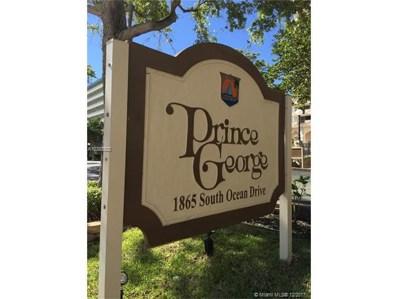 1865 S Ocean Dr UNIT 8E, Hallandale, FL 33009 - MLS#: A10388923