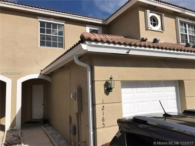 12165 SW 4th St UNIT 12165, Pembroke Pines, FL 33025 - MLS#: A10389284