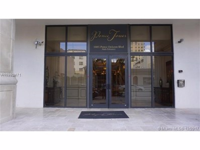 1805 Ponce De Leon Blvd UNIT PH-1510, Coral Gables, FL 33134 - MLS#: A10392471