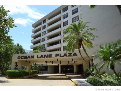 170 Ocean Lane Dr UNIT 511, Key Biscayne, FL 33149 - MLS#: A10406267