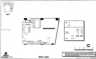 1800 N Bayshore Dr UNIT 410, Miami, FL 33132 - MLS#: A10415160