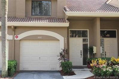 7525 NW 61 Te UNIT 603, Parkland, FL 33067 - MLS#: A10416264