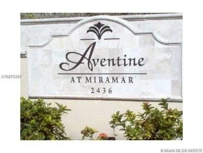 2494 Centergate Dr UNIT 101, Miramar, FL 33025 - MLS#: A10450399