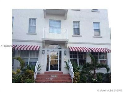 1244 Pennsylvania Ave UNIT 207, Miami Beach, FL 33139 - MLS#: A10453439