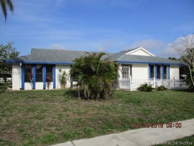 172 Ponce De Leon St, Royal Palm Beach, FL 33411 - MLS#: A10457587