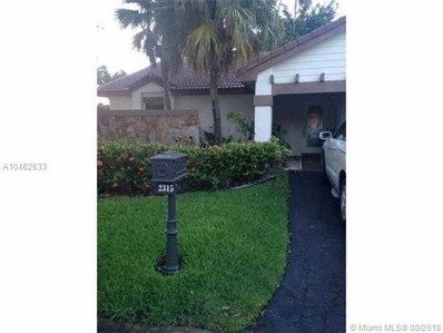 2315 Columbia, Weston, FL 33326 - MLS#: A10462633