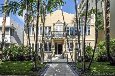 1018 Meridian Ave UNIT 1, Miami Beach, FL 33139 - MLS#: A10471749