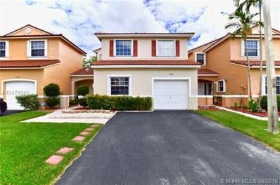 17227 NW 8th St, Pembroke Pines, FL 33029 - MLS#: A10479560