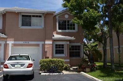 4968 SW 123rd Ter, Cooper City, FL 33330 - MLS#: A10496478