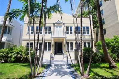 1018 Meridian Ave UNIT 2, Miami Beach, FL 33139 - MLS#: A10504471