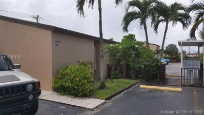 11653 SW 3rd St UNIT 6, Sweetwater, FL 33174 - MLS#: A10515169