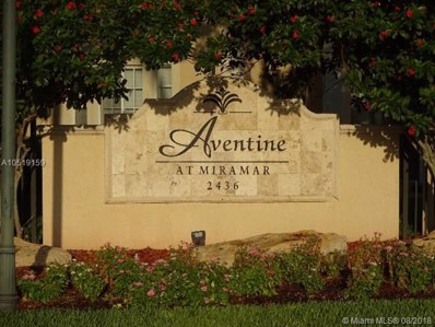 2469 Centergate Dr UNIT 203, Miramar, FL 33025 - MLS#: A10519159