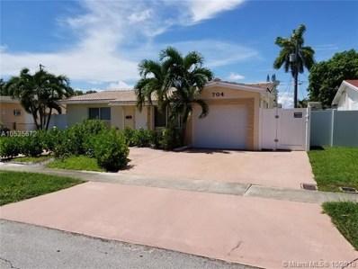 704 SW 6th Ave, Hallandale, FL 33009 - MLS#: A10535672