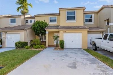 1412 NW 154th Ln, Pembroke Pines, FL 33028 - MLS#: A10540756