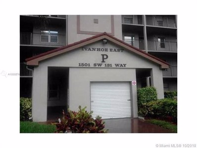 1501 SW 131st Way UNIT 302P, Pembroke Pines, FL 33027 - MLS#: A10555579