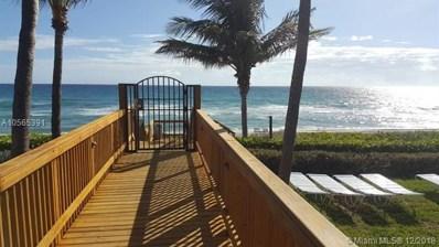 3400 S Ocean Blvd UNIT 10J, Highland Beach, FL 33487 - MLS#: A10565391