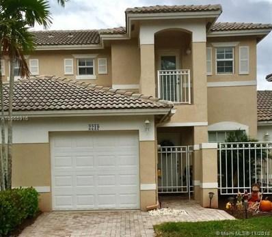 2219 NW 170th Ave, Pembroke Pines, FL 33028 - MLS#: A10565916