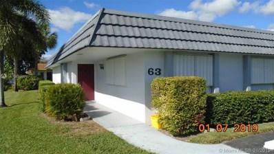2886 E Fernley Dr E UNIT 63, West Palm Beach, FL 33415 - #: A10610031